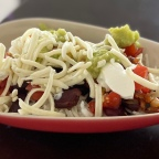 Homemade Mexican rice bowl