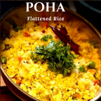 Vegetable poha (flattened rice)